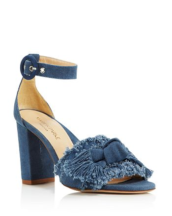 MARION PARKE - Women's Larin Denim High Block-Heel Sandals