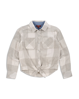 7 For All Mankind Girls TieFront Shirt  Big Kid