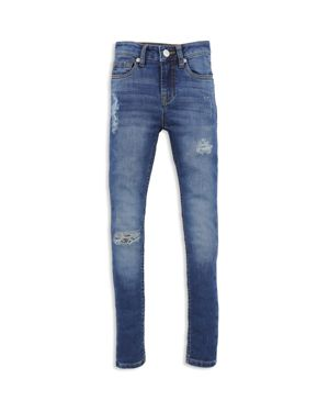 7 For All Mankind Girls' Distressed Skinny Ankle Jeans - Big Kid 2749380