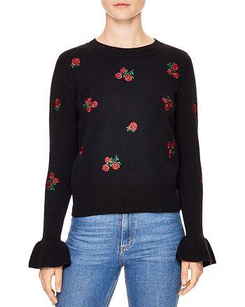 Sandro - Ingrid Embroidered Wool Sweater