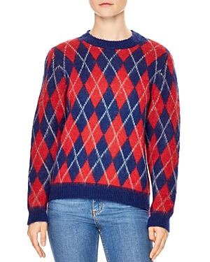 Sandro Jona Argyle Sweater