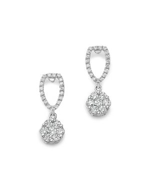 Bloomingdale's Diamond Cluster Drop Earrings in 14K White Gold, .75 ct. t.w. - 100% Exclusive