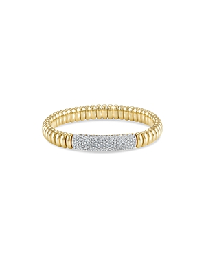 Hulchi Belluni 18K Yellow Gold Tresore Pave Diamond Bracelet