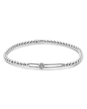 Hulchi Belluni - 18K White Gold Tresore Diamond Single Station Stretch Bracelet