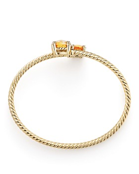 David Yurman - Châtelaine Bypass Bracelet with Citrine and Diamonds in 18K Yellow Gold