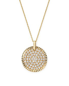 Bloomingdale's - Diamond Medallion Pendant Necklace in 14K Yellow Gold, 1.75 ct. t.w. - 100% Exclusive