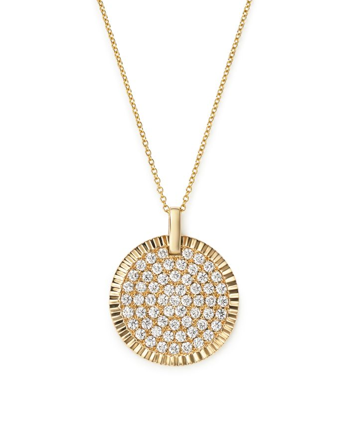 Bloomingdale's Diamond Medallion Pendant Necklace in 14K Yellow Gold, 1.75 ct. t.w. - 100% Exclusive  | Bloomingdale's