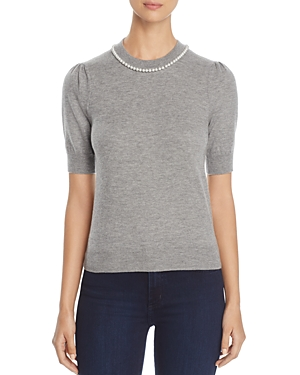 kate spade new york Faux-Pearl Embellished Sweater
