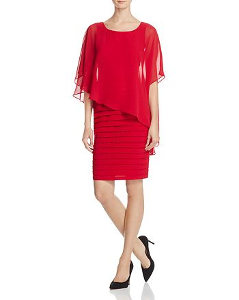 Adrianna Papell - Bodice Overlay Banded Dress