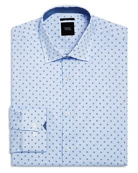 WRK - Micro Dot and Open Square Slim Fit Dress Shirt