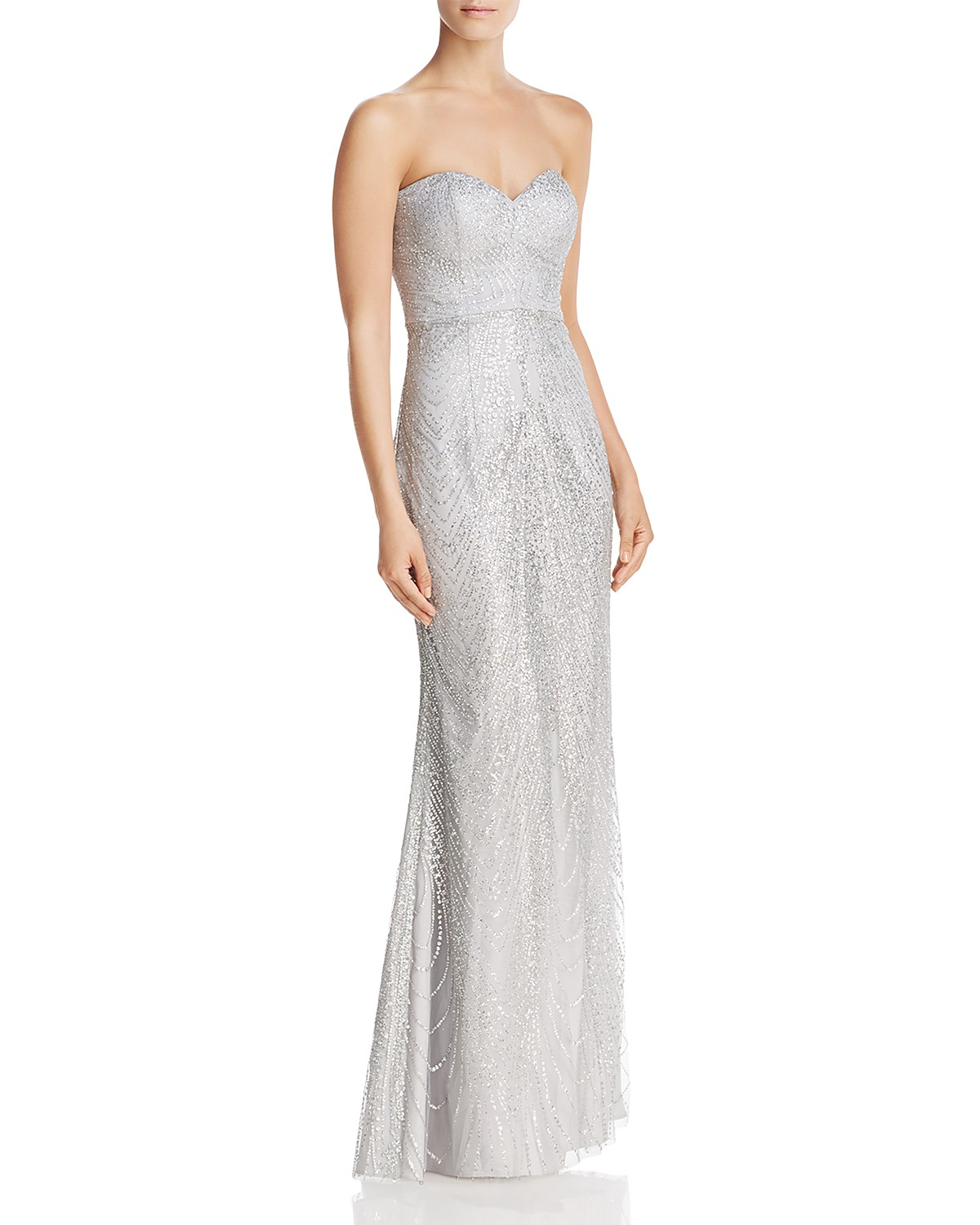 Bariano Strapless Sequin Lace Gown | Bloomingdale\'s