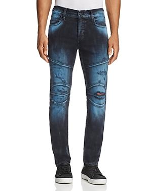 True Religion Rocco Biker Super Slim Fit Jeans in Blue Blaze