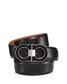 Salvatore Ferragamo Double Gancini Leather Belt - Bloomingdale's_0
