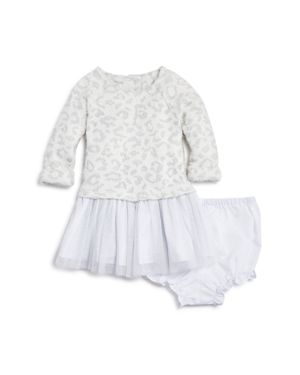 Pippa & Julie Girls' Leopard-Print Sweater Tulle Dress & Bloomers - Baby