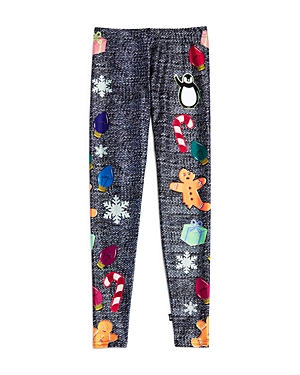 Terez Girls DenimPrint Holiday Leggings  Big Kid
