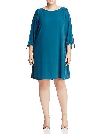 Eileen Fisher Plus - Slit-Sleeve Silk Dress