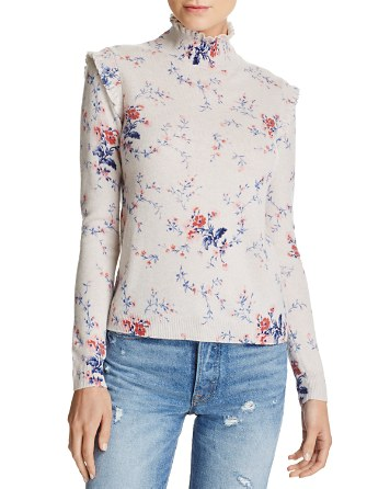 $Joie Robbia Floral-Pattern Wool & Cashmere Sweater - Bloomingdale's