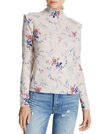 Joie - Robbia Floral-Pattern Wool & Cashmere Sweater