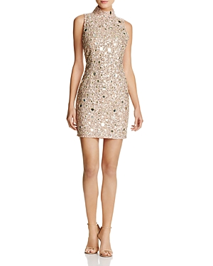 French Connection Eloise Sequined & Mirrored Mini Dress