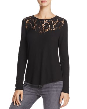 Generation Love Ainsley Cutout Lace-Trim Top