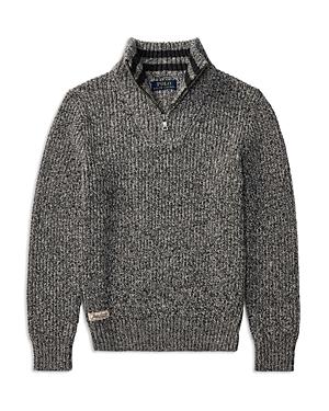 Ralph Lauren Childrenswear Boys' Marled Quarter-Zip Sweater - Big Kid