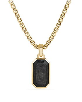 David Yurman - Men's Forged Carbon Amulet with 18K Gold