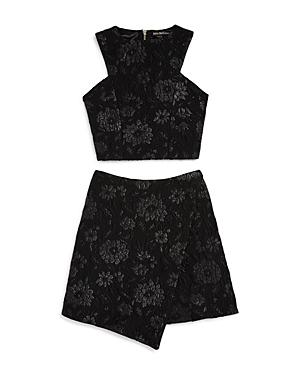 Miss Behave Girls Floral Jacquard Top  Skirt Set  Big Kid