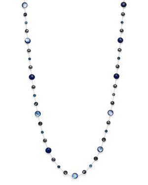 Ippolita Sterling Silver Lollipop Lapis Doublet, London Blue Topaz & Hematite Necklace in Eclipse, 3