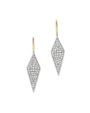 Adina Reyter Sterling Silver & 14K Yellow Gold Long Pave Diamond Earrings