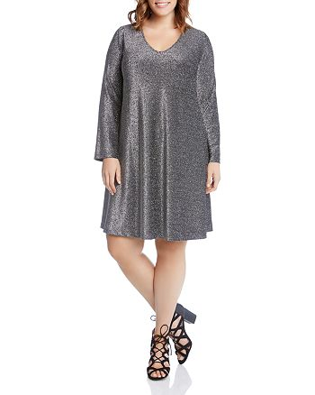 Karen Kane Plus - Taylor Sparkle Metallic Dress