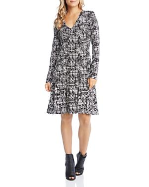 Karen Kane Crosshatch Print Knit Dress