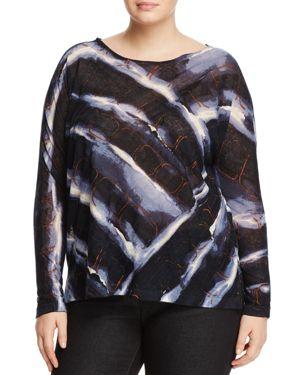Nic+Zoe Plus Wave Print Dolman Sleeve Top