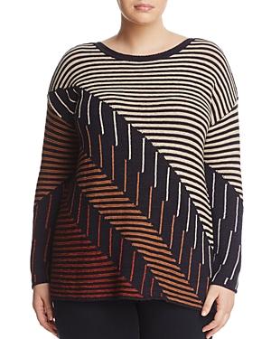 Nic+Zoe Plus Lagoon Mixed Stripe Sweater