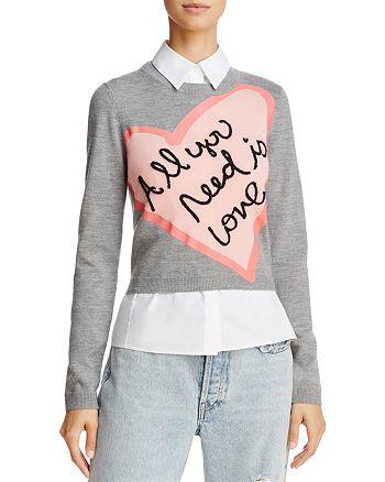 Alice and Olivia - x The Beatles Nikia Layered-Look Sweater