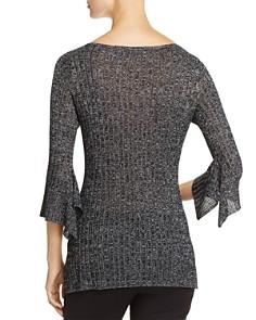 Heather B - Ribbed Metallic Bell Sleeve Sweater - 100% Exclusive