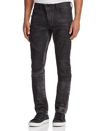 PRPS Goods & Co. - Le Sabre Moto Slim Fit Jeans in Black