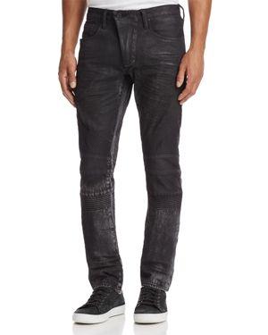Prps Goods & Co. Le Sabre Moto Slim Fit Jeans in Black