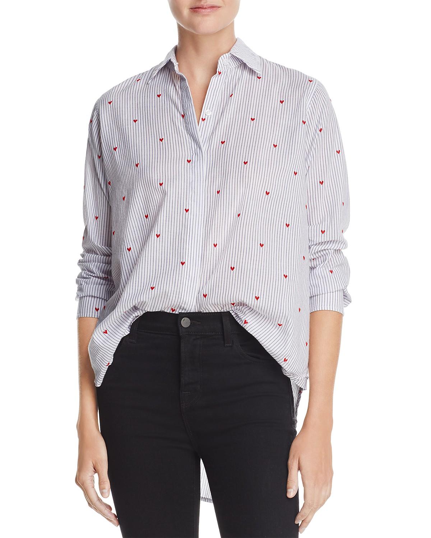 Rails Taylor Flocked Heart Stripe Shirt | Bloomingdale\'s