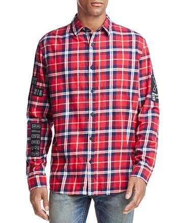 nANA jUDY - Views Graphic Plaid Button-Down Shirt