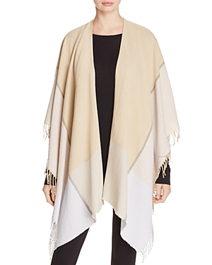 Eileen Fisher Plaid Fringe Serape at Bloomingdale's