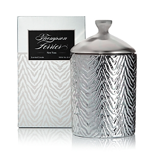 Thompson Ferrier Zebra Print White Tea & Mint Candle