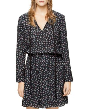 Zadig & Voltaire Remus Liberty Floral-Print Smocked Dress