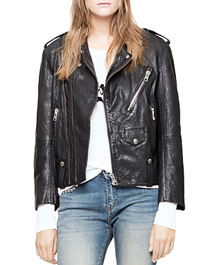 Zadig & Voltaire Liya Deluxe Leather Moto Jacket