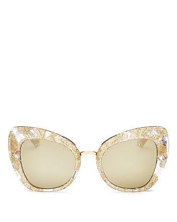 Dolce&Gabbana - Women's Mirrored Cat Eye Sunglasses, 51mm