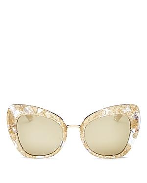 Dolce & Gabbana Mirrored Cat Eye Sunglasses, 51mm
