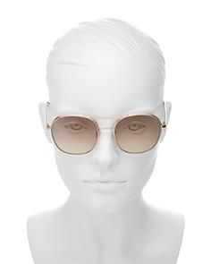 Chloé - Women's Chloé Nola Round Aviator Sunglasses, 54mm