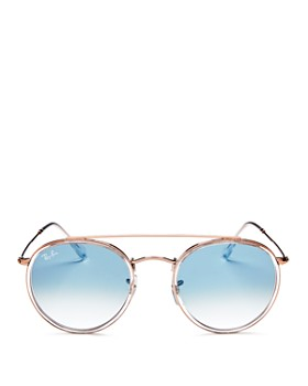 Ray-Ban - Unisex Brow Bar Round Sunglasses, 51mm