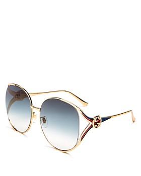 02ff6ca22 Gucci - Women's Oversized Round Sunglasses, ...