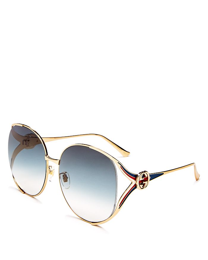 383701772a69 Gucci Women's Oversized Round Sunglasses, 63mm | Bloomingdale's