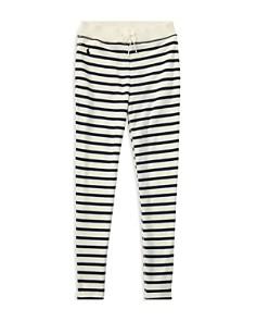 Ralph Lauren - Girls' Striped French Terry Leggings - Big Kid